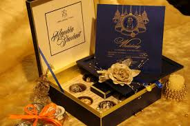 Design Card Wedding Invitation Mandir Bells Wedding Cards Cream Box Newdelhi Weddinginvitation