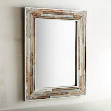 wood planked 30x40 mirror the box industrial and chic