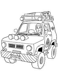fireman sam ride patrol vehicle coloring coloring sky
