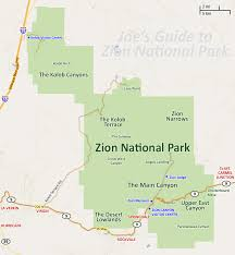 map of zion national park joe s guide to zion national park getting around zion national park