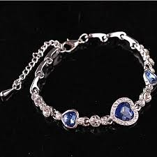 silver plated charm bracelet images Buy generic fashion women girls crystal jewelry silver plated jpg