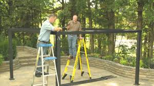A Frame Ladder Lowes by Lowe U0027s Gazebo Installation Youtube