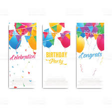 Birthday Cards Invitation Birthday Cards Invitation Flyers Cards With Colorful Balloons