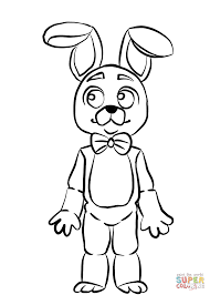 fnaf bonnie coloring page free printable coloring pages