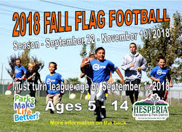 Flag Football Set For Adults Youth U0026 Sports Hesperia Recreation And Park District
