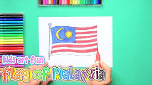 Malasia Flag How To Draw And Color The Flag Of Malaysia Youtube