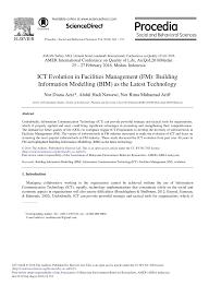 ict evolution in facilities management fm building information
