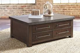 starmore brown storage cocktail table from ashley coleman furniture