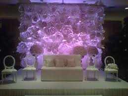 wedding backdrop flowers large chanel paper flower wall inspired wedding backdrop wall for