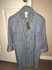 denim blouses chico s denim tops blouses for ebay