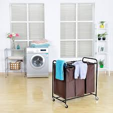 Laundry Divider Hamper by White Triple Sorter Laundry Hamper U2014 Sierra Laundry Organizer