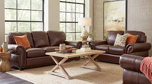 Brown Leather Sofa And Loveseat Furniture Living Room Sofas And Loveseats Living Room Sofas And