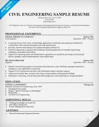 Accountant Sample Resume by Sample Resume For Civil Engineer Free Resumes Tips