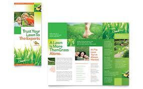 lawn maintenance tri fold brochure template word u0026 publisher