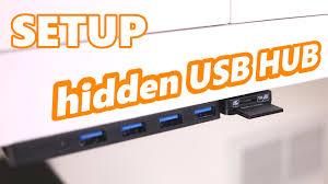 Usb Hub Setup Under Desk Mounted Usb Hub Card Reader Tutorial And Tips