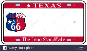 Texas State Flag Texas State License Plate In The Colors Of The State Flag With