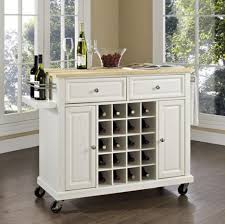 wood kitchen island cart white wooden kitchen island cart with wine rack and shelf home