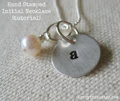 necklace silver etsy images Hand stamped necklace tutorial diy gift jpg