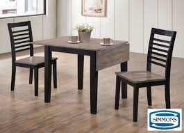 hampton grey 3 piece dinette set dinette sets dining rooms