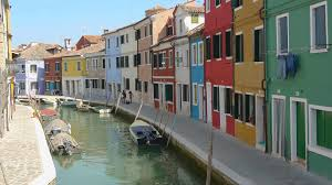Colorful City Historical Colorful City Burano Island Close To Venice Italy View