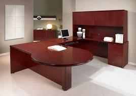 office elegant modern dark brown office desk combined with brown
