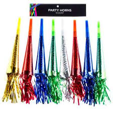 party horns foil party horns with fringe hobby lobby 462481