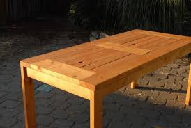 Make Wood Patio Furniture by How To Build Wood Outdoor Table Plans Free Download Zany85pel