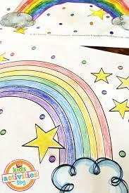 cute rainbow coloring printable