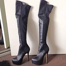 womens boots zu zu thigh high boots size 7 5 worn once s fashion on carousell
