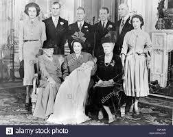 members of the british royal family sitting with young prince