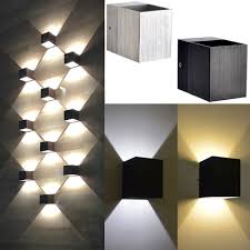 square up down light modern 3w day warmwhite led square up down wall l spot light