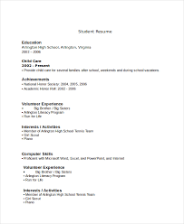 high school student resume template no experience gallery of resume exles for highschool students with no work