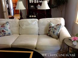 White Slipcover Couch Thanks For The Memories White Slipcover The Creek Line House