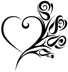 black and white heart tattoo free download clip art free clip