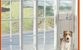 sliding glass doggie door when the pet door panel is installed the