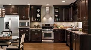 Kitchen Ideas With Maple Cabinets Kitchen Pretty Dark Maple Kitchen Cabinets Adorable Floors