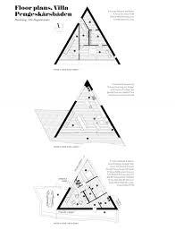 swedish house plans villa small triangular wooden decking above single car garage