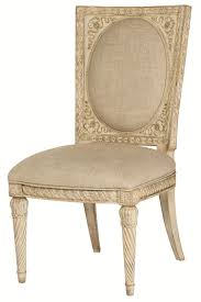 Round Accent Chair Cane Back Accent Chair With Upholstery By American Drew Wolf And