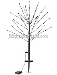 battery solar powered tiny branches lights warm white led