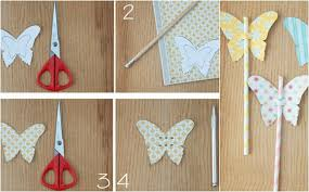 how to make paper butterflies decorations straws