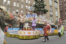 oneida nation float in macy s thanksgiving day parade for 5th year