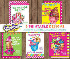 shopkins valentine cards printable personalized 3 easy