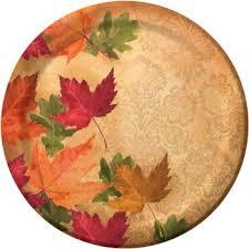 autumn s elegance 9 thanksgiving dinner paper plates 8ct