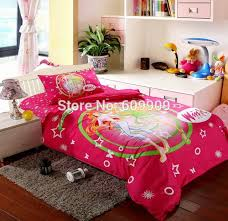 Types Of Bed Sheets Aliexpress Com Buy Winx Club Bedding Red Twin Or Single Bed