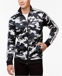 gray men s camo print track jacket camo print camo and adidas