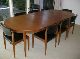 Teak Dining Tables And Chairs 1960s Mid Century Modern Teak Dining Table Chairs Bramin