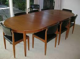 Teak Dining Room Chairs 1960s Mid Century Modern Teak Dining Table Chairs Bramin