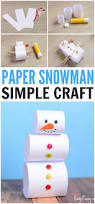 simple paper snowman craft easy peasy and fun