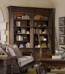 Bookcase Ladder Hooker Furniture Home Office Adagio Double Bookcase Wladder Double