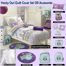 hooty owl purple quilt cover set by jiggle u0026 giggle